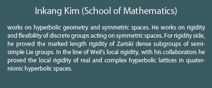 Inkang Kim (School of Mathematics)