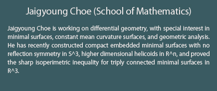 Jaigyoung Choe (School of Mathematics)