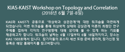 KIAS-KAIST Workshop on Topology and Correlation