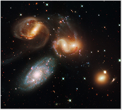 A HST image of the Stephan's Quintet